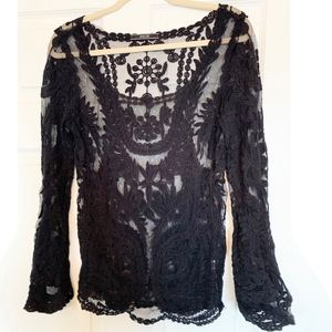 Dulcie Sheer Embroidered Top